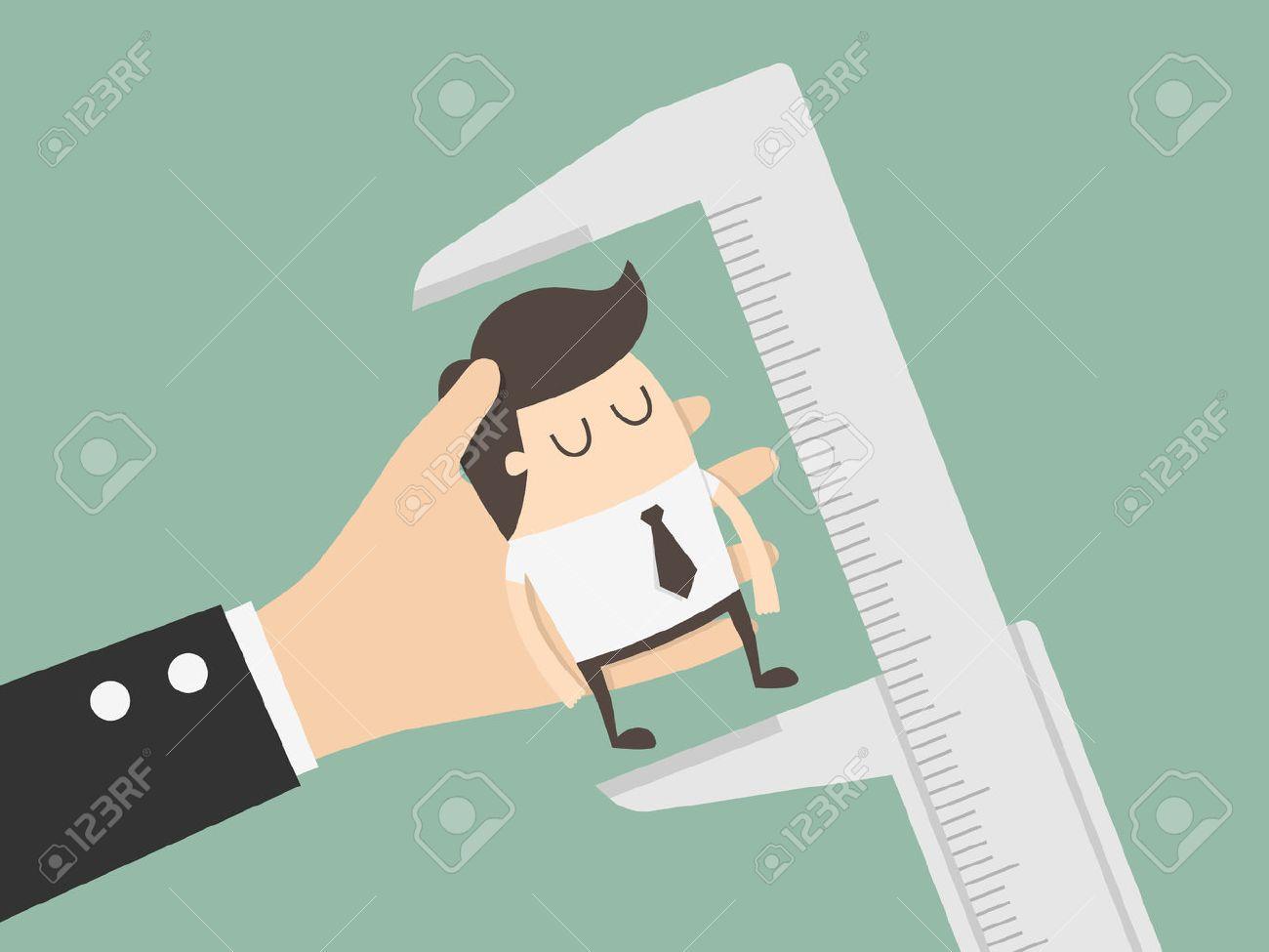 Employee Evaluation. Business Concept Cartoon Illustration. - 55498164