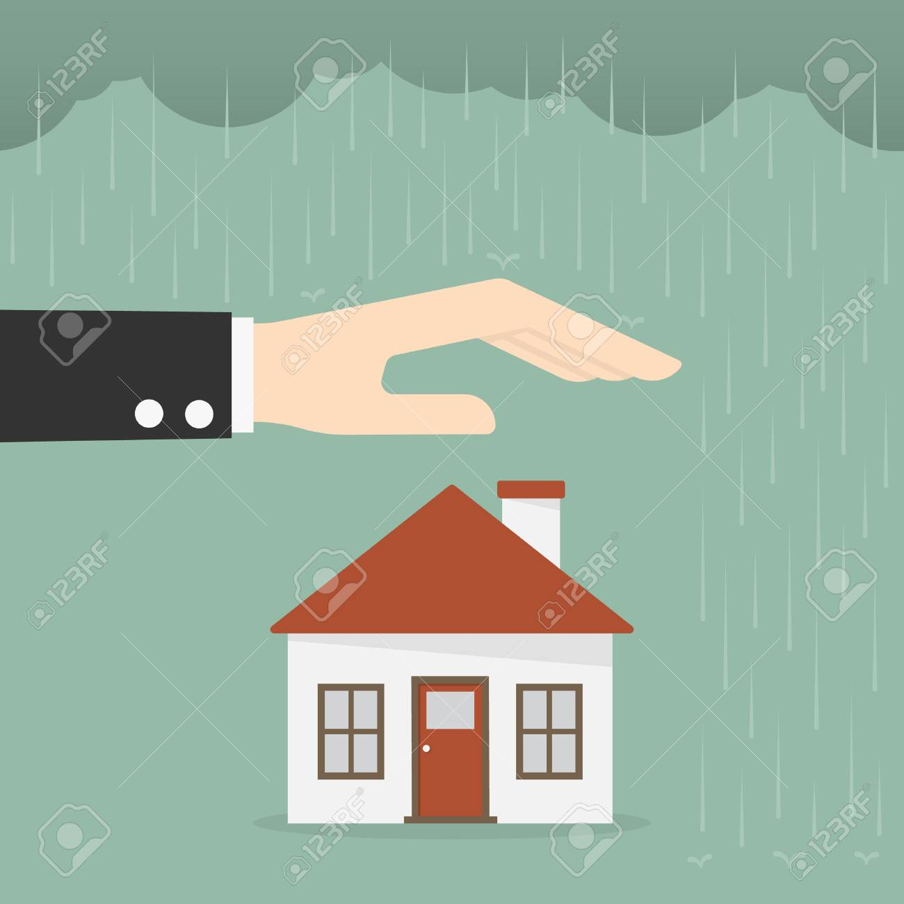 Property Insurance And Security Concept. Business Concept Illustration. - 83432861