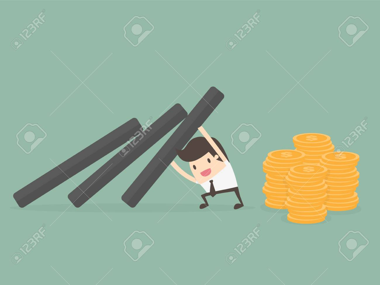 Money Protection. Business Concept Illustration. - 83432913