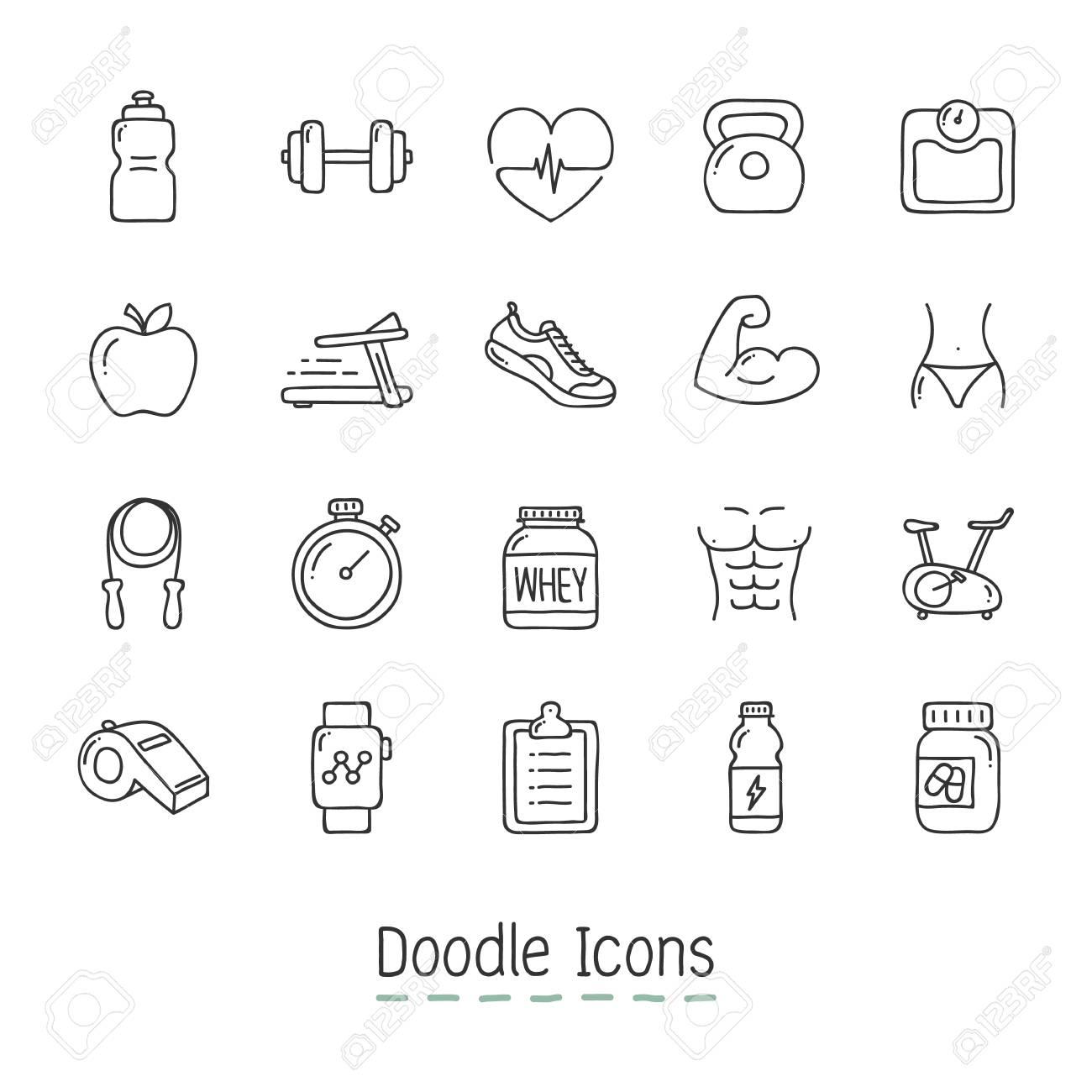 Hand Drawn Icon Set. - 126684971