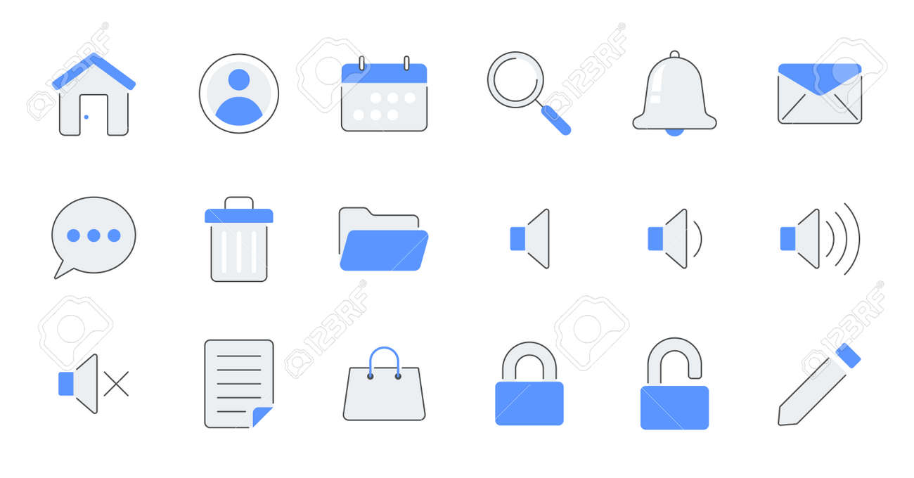 set of simple icons contains such Icons as export, security, bookmark, upload, and more - 162698156