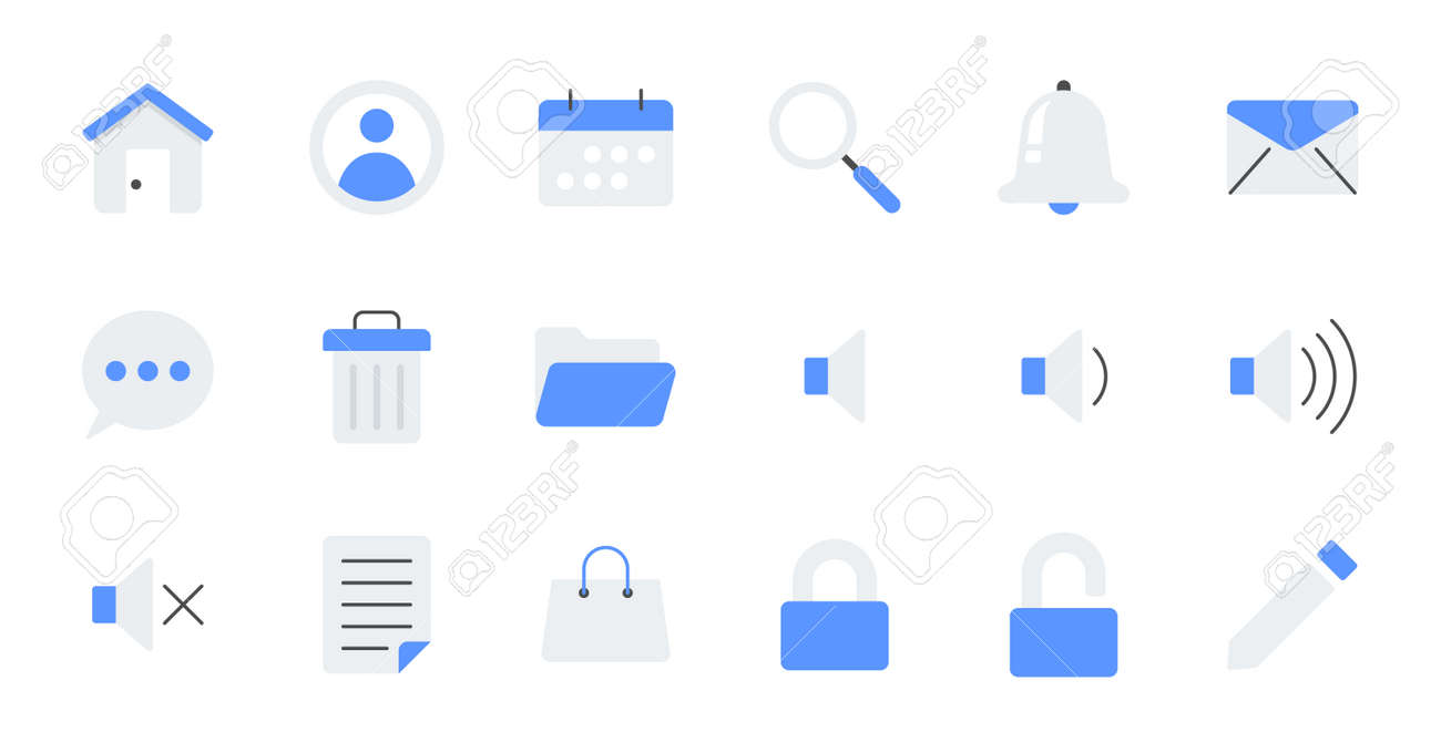 set of simple icons contains such Icons as export, security, bookmark, upload, and more - 162698157
