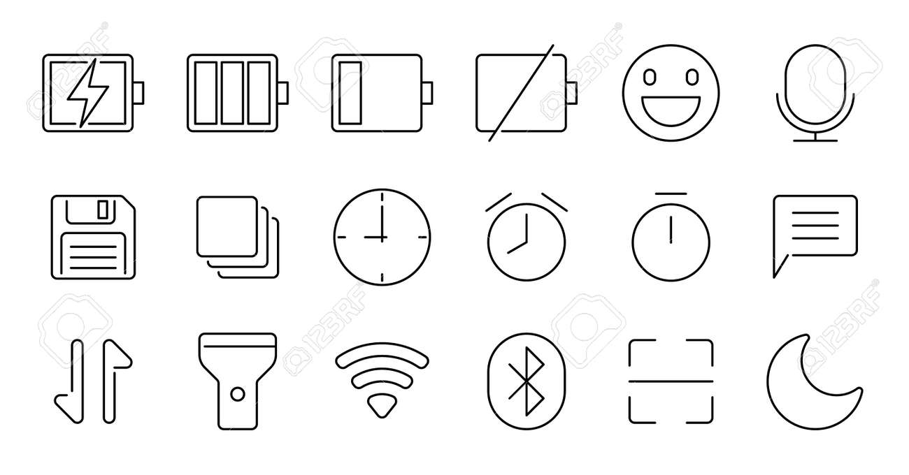 Simple icon set contains such Icons as bathrobe, pajamas, socks, shoes, and more - 166684840