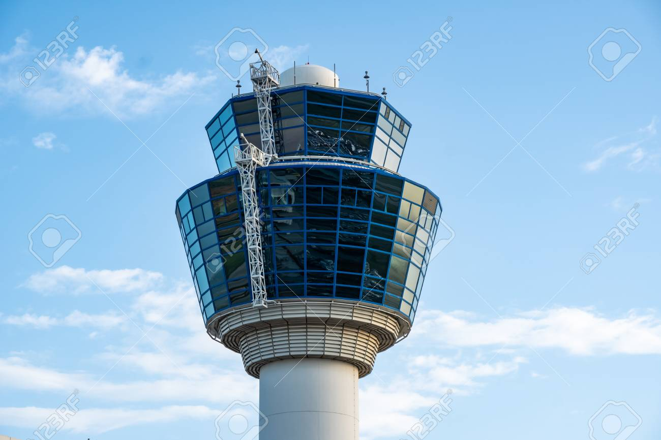 Air Traffic Control Tower of Athens International Airport, Greece - 122330791