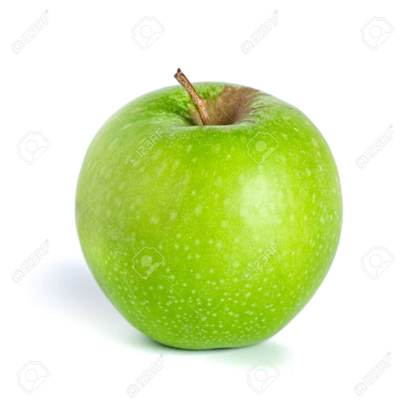 Green apple isolated on white background. Healthy food, fruit - 150117991