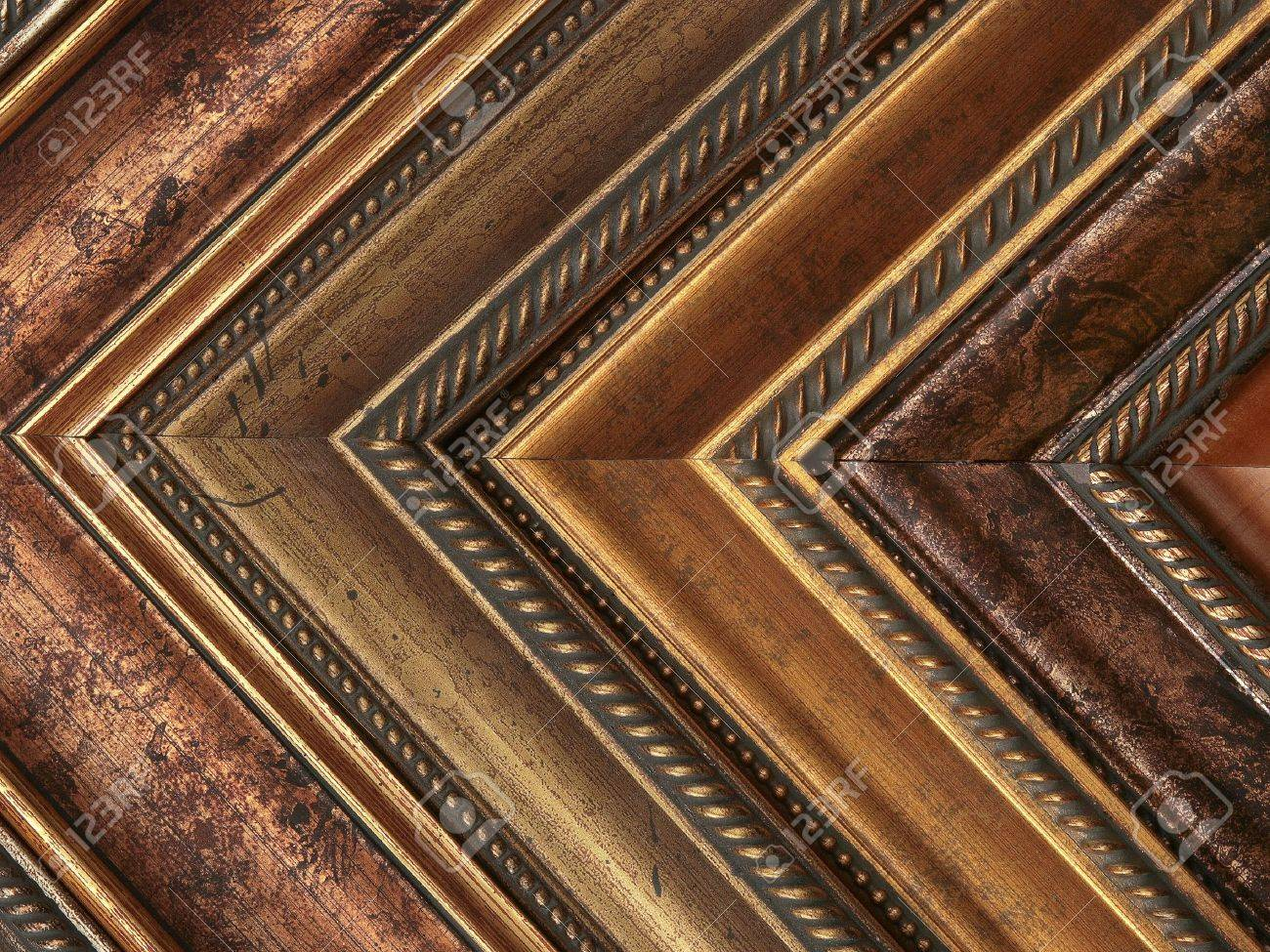 Picture frame samples gold and bronze Stock Photo - 6551314