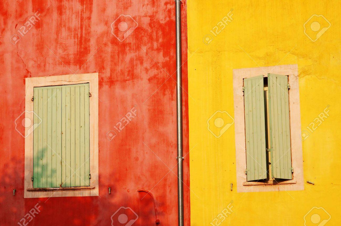 Colorful Walls Of Roussillon In The Warm Setting Sun Of Provence ...