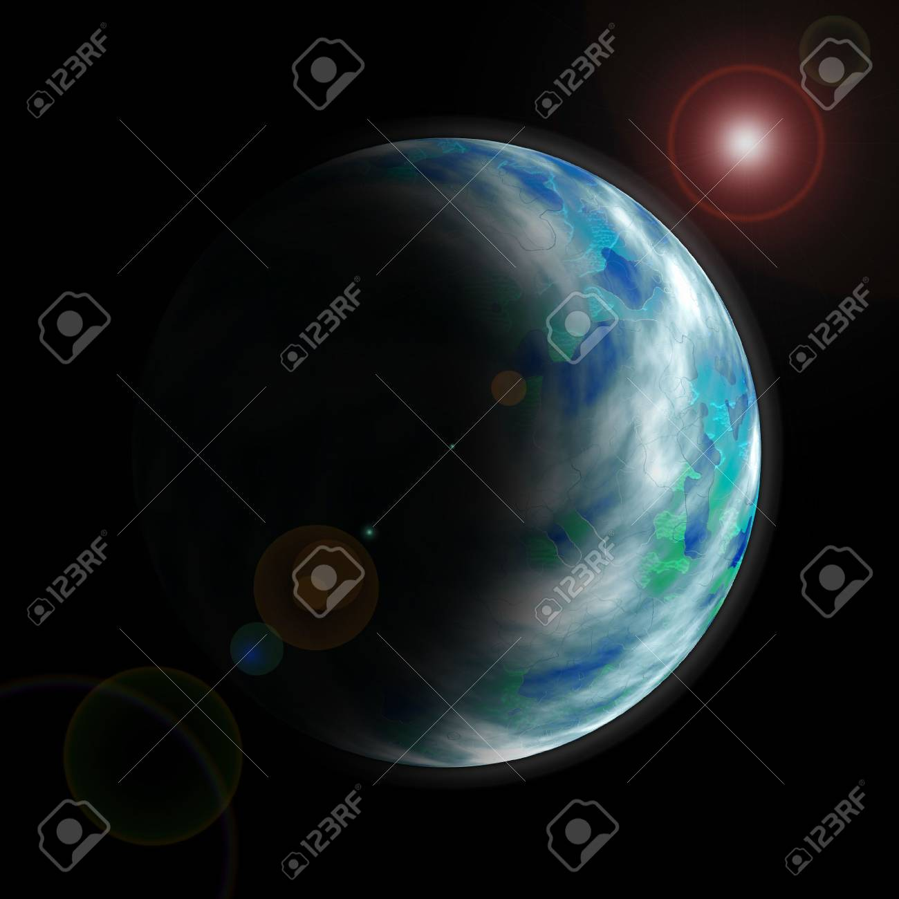 Planet as seen from space Stock Photo - 6723757