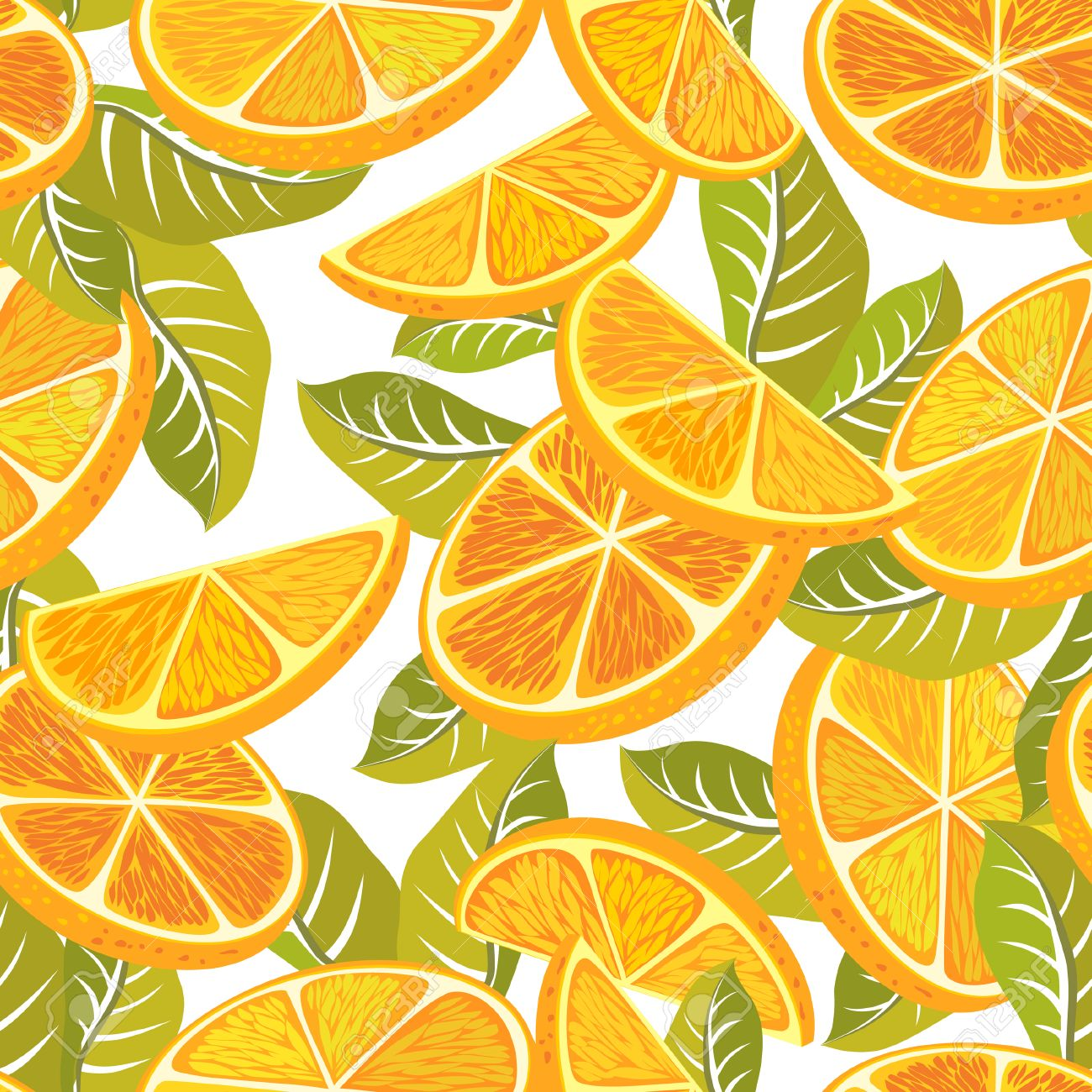 54364680 cut orange decorative seamless retro pattern on a white background textile and wallpaper fruit backg