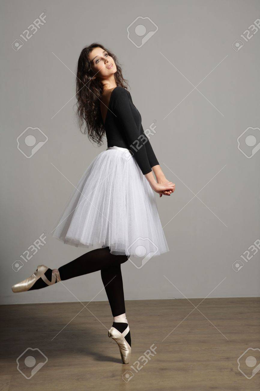 young, cute and beautiful ballet dancer posing Stock Photo - 3029658