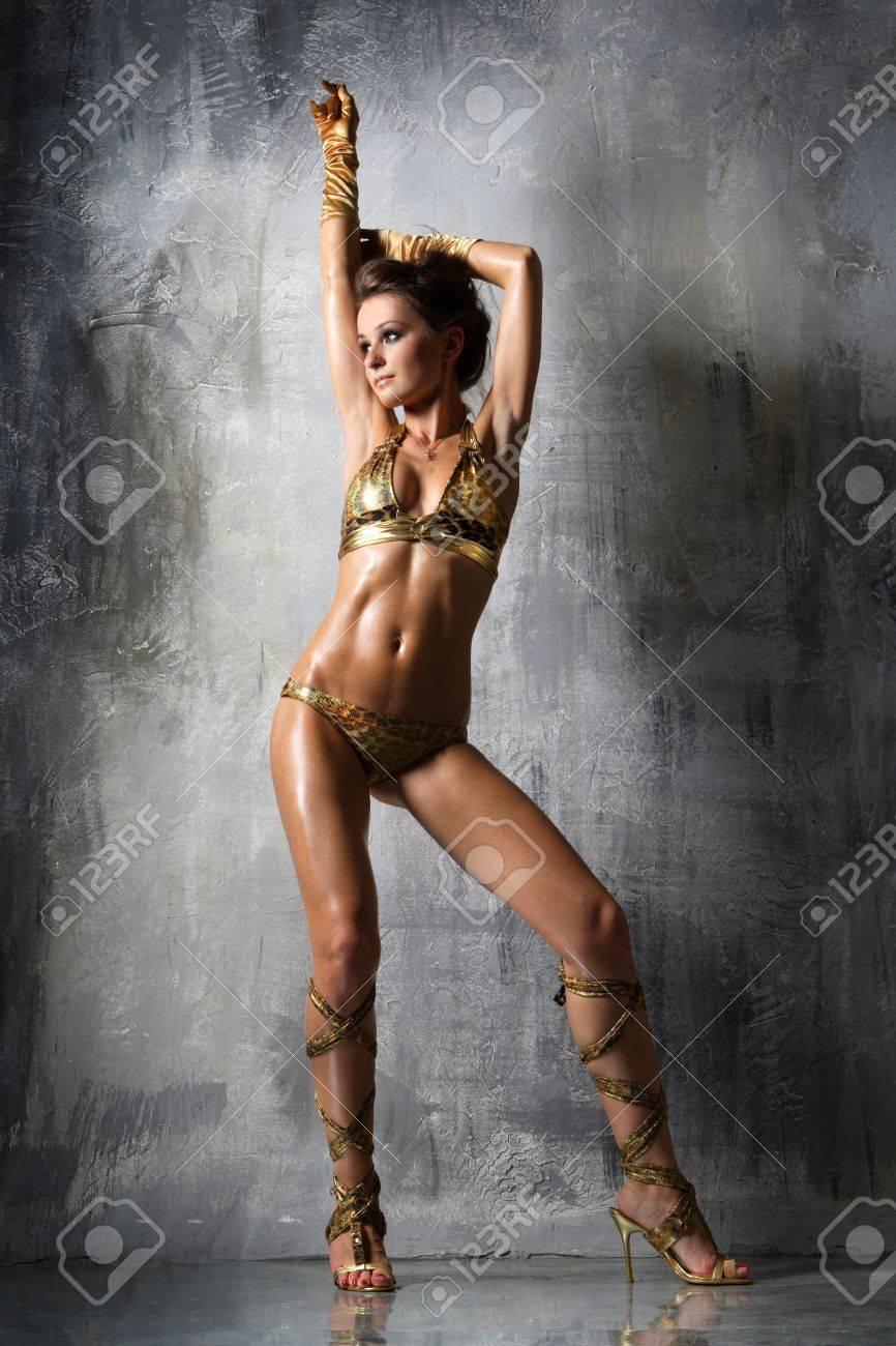 beautiful go-go girl dancing alone - 3038781