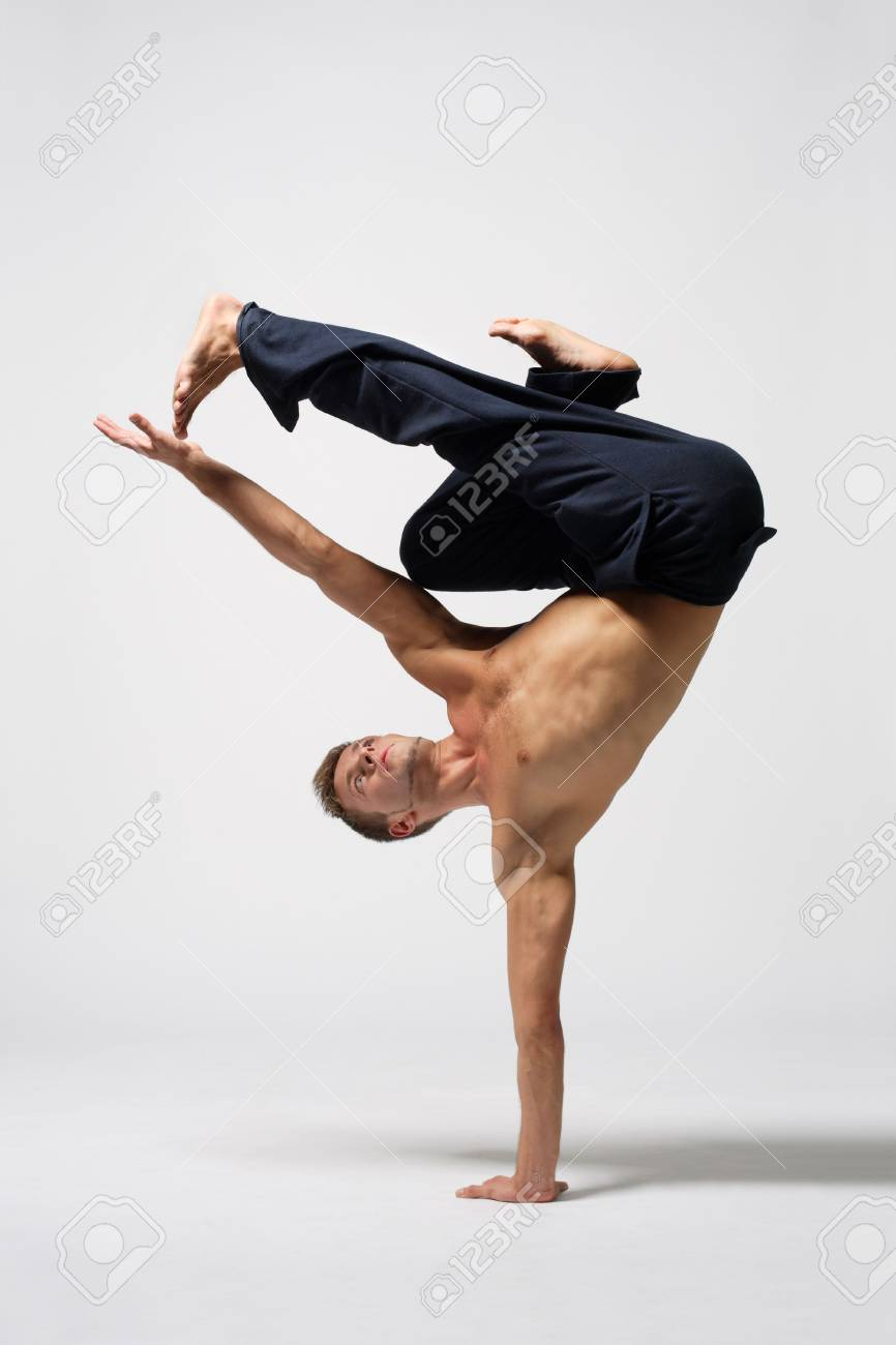 modern ballet dancer posing over white background Stock Photo - 3917732