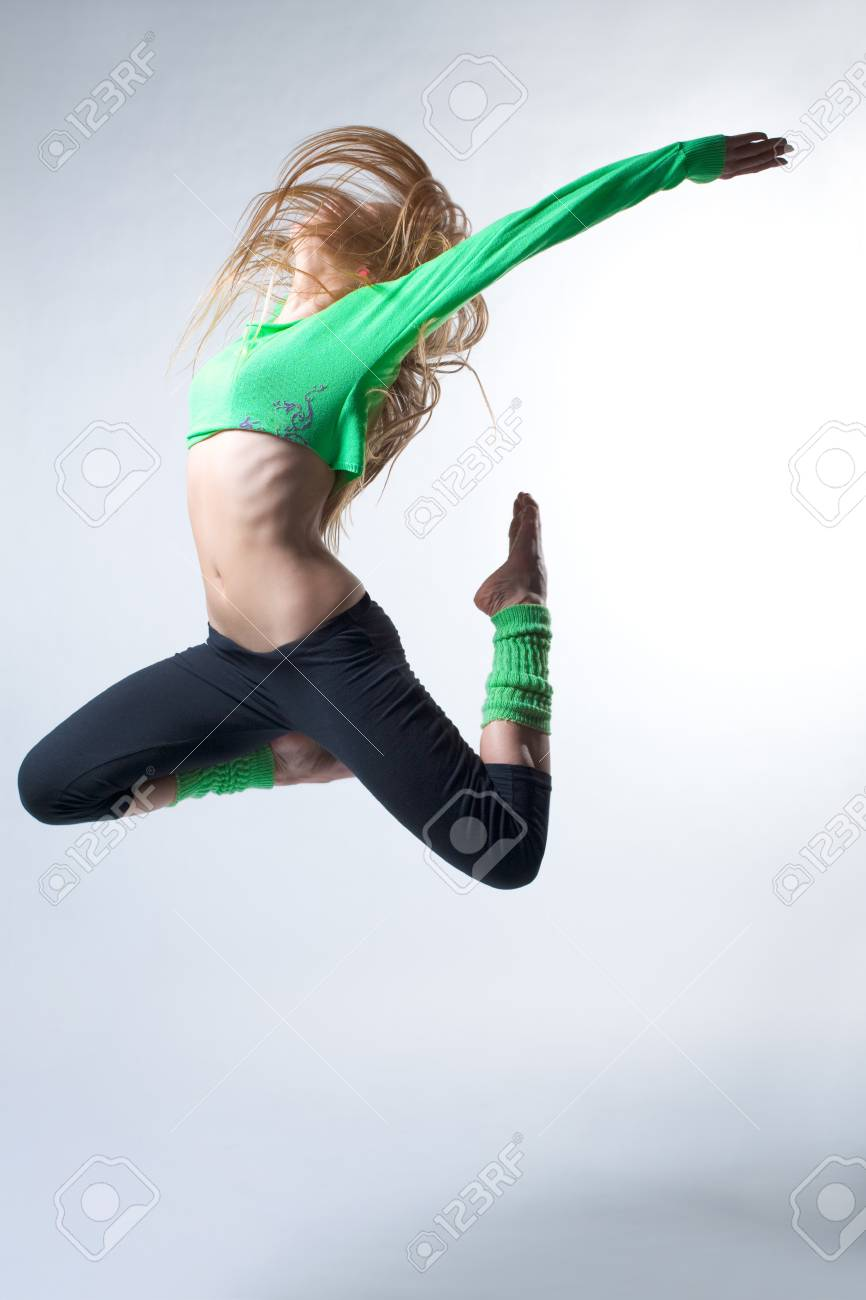 modern ballet dancer posing on white background Stock Photo - 4283137