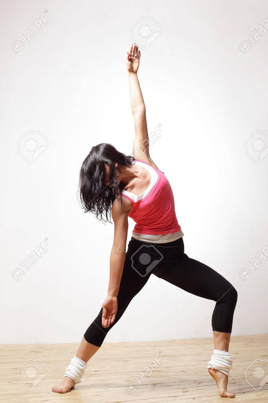 modern style dancer posing on studio background - 4918407