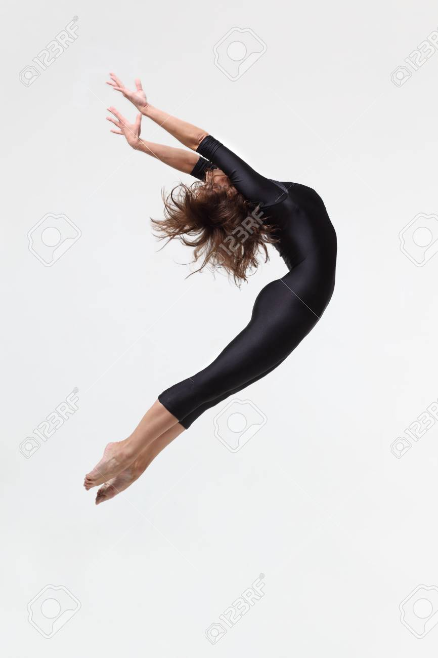 modern dancer poses in front of the studio background Stock Photo - 6206738