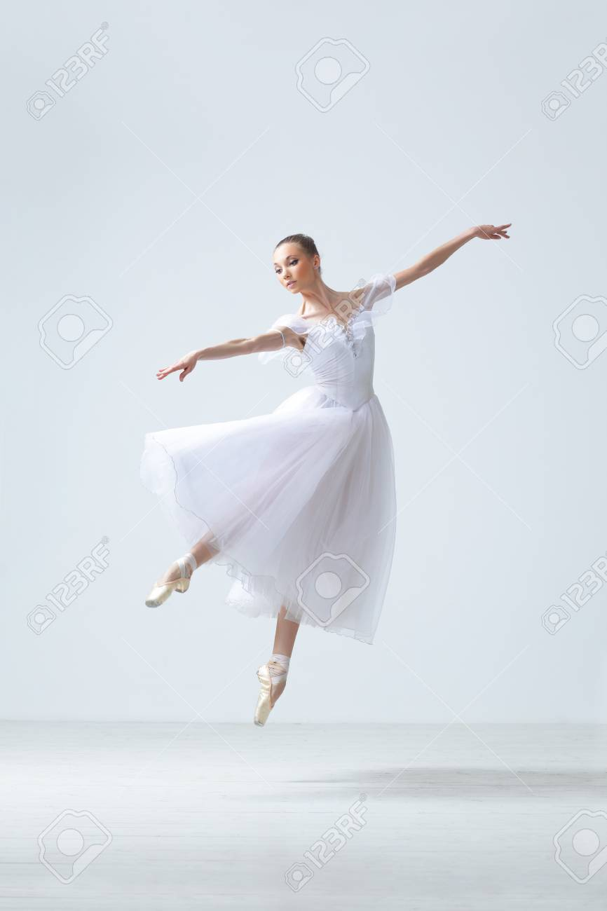 modern style dancer posing on studio background Stock Photo - 7718814