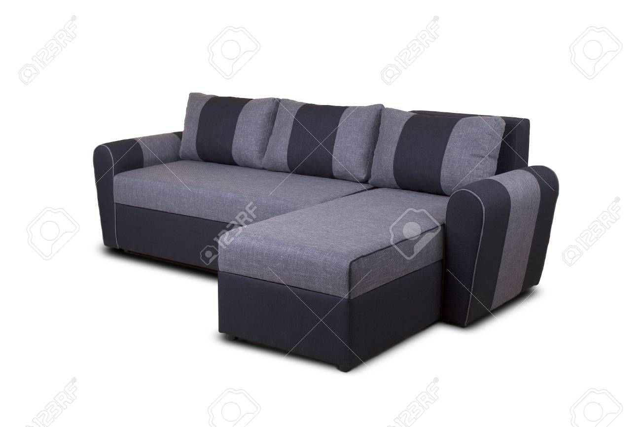 Photo De Canape Moderne studio photo d'un canapé moderne gris isolé sur fond blanc modèle inconnu