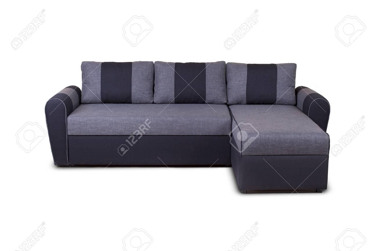 Photo De Canape Moderne coup de studio d'un canapé moderne gris isolé sur fond blanc modèle inconnu
