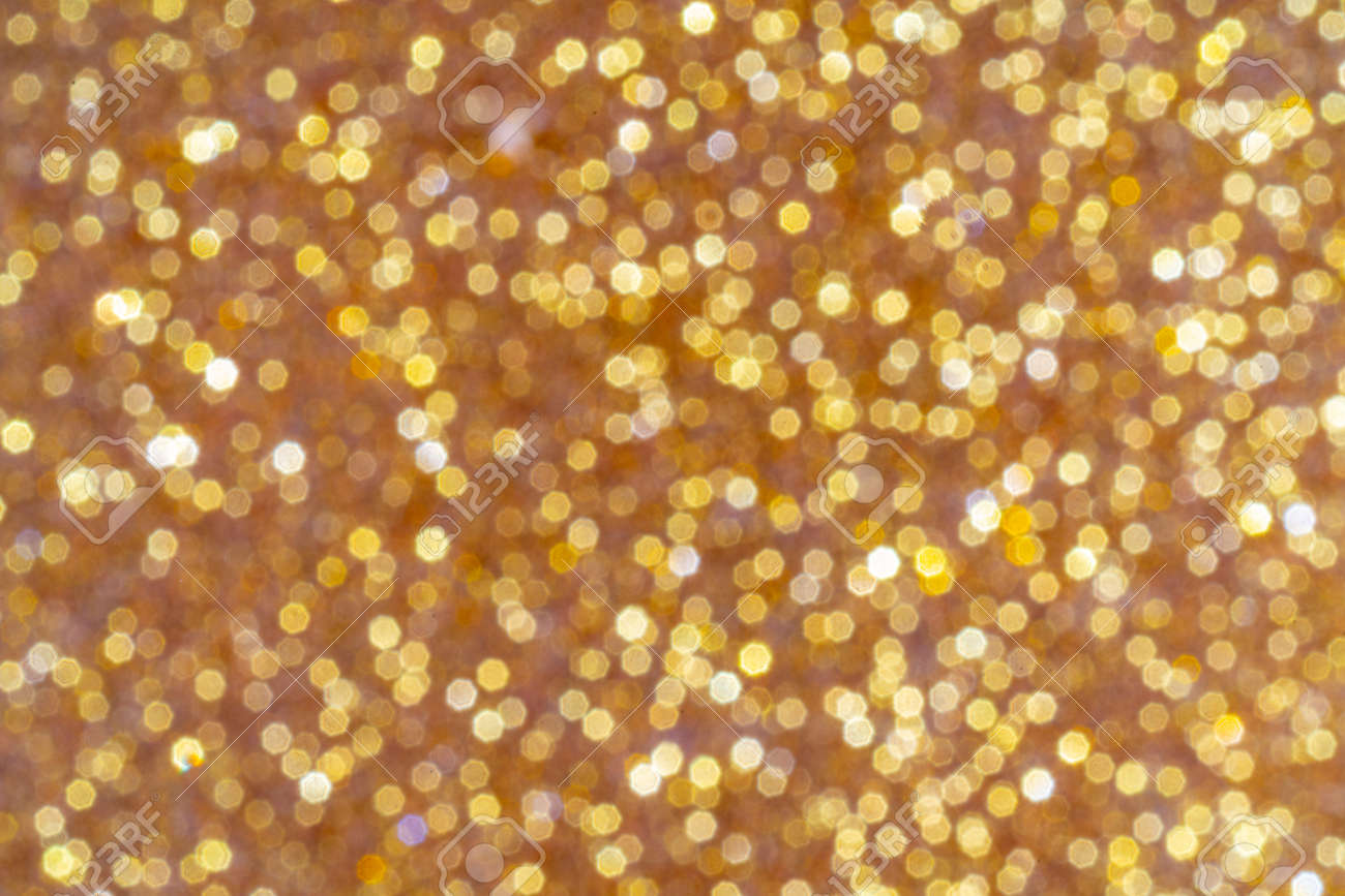 Abstract golden background. Beautiful bokeh effect. Light circles background. - 158987282