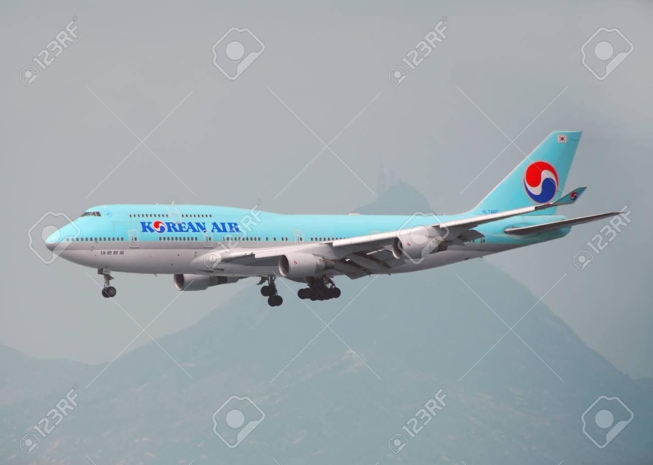 """香港 â €""""3 月 19 日: 大韓航空..."""