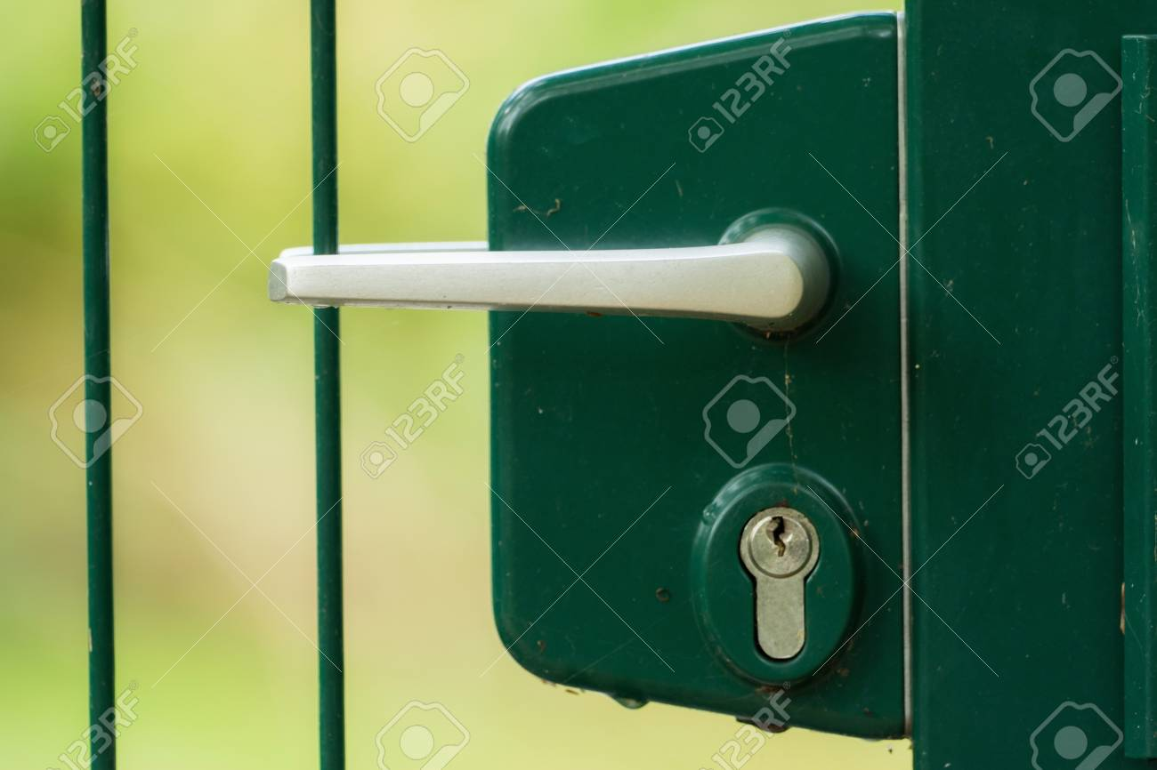 Lock and latch of a gated door Stock Photo - 88746997 & Lock And Latch Of A Gated Door Stock Photo Picture And Royalty Free ...