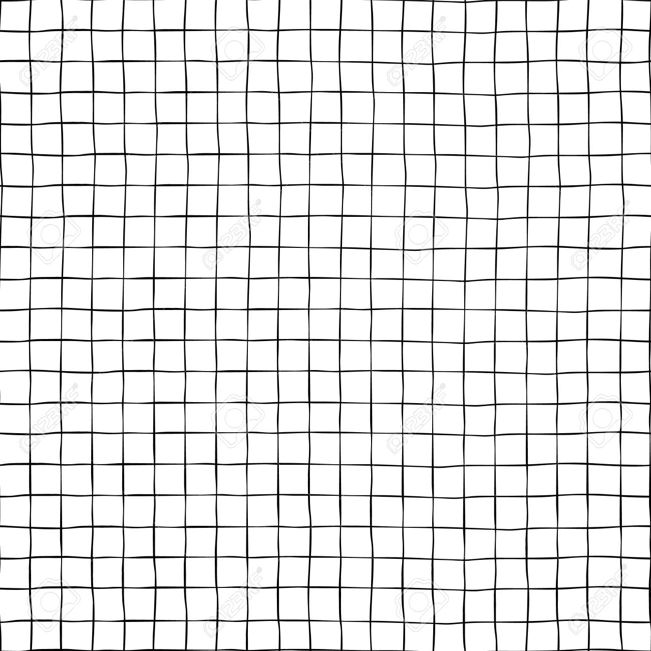 Black Grid On White Seamless Vector Background Texture Hand Stock Photo Picture And Royalty Free Image Image 109245150