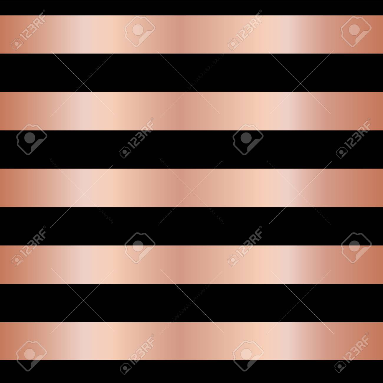 banque dimages copper rose gold foil stripes on black seamless vector pattern background horizontal metallic shiny lines christmas new year