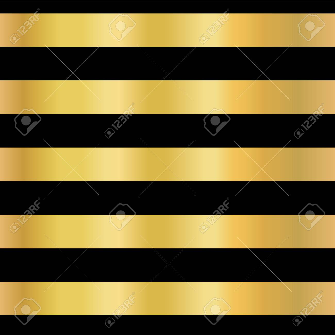 Gold Foil Stripe Seamless Vector Background Horizontal Gold