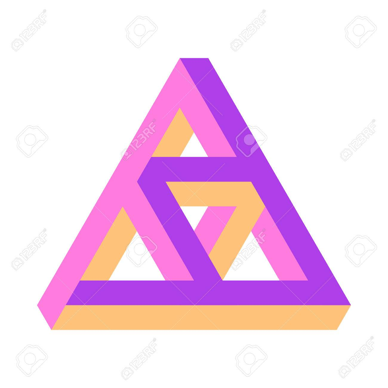 Vector Illustration Of The Penrose Triangle Penrose Triforce