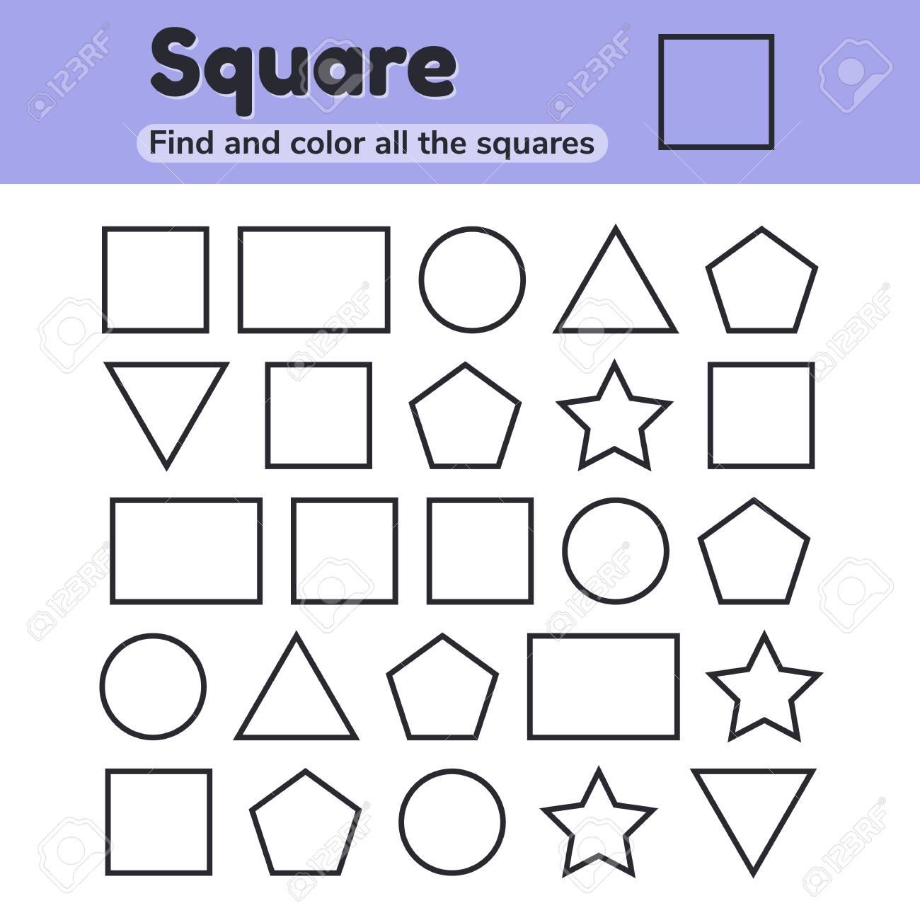 Vector illustration. Educational worksheet for kids kindergarten,..