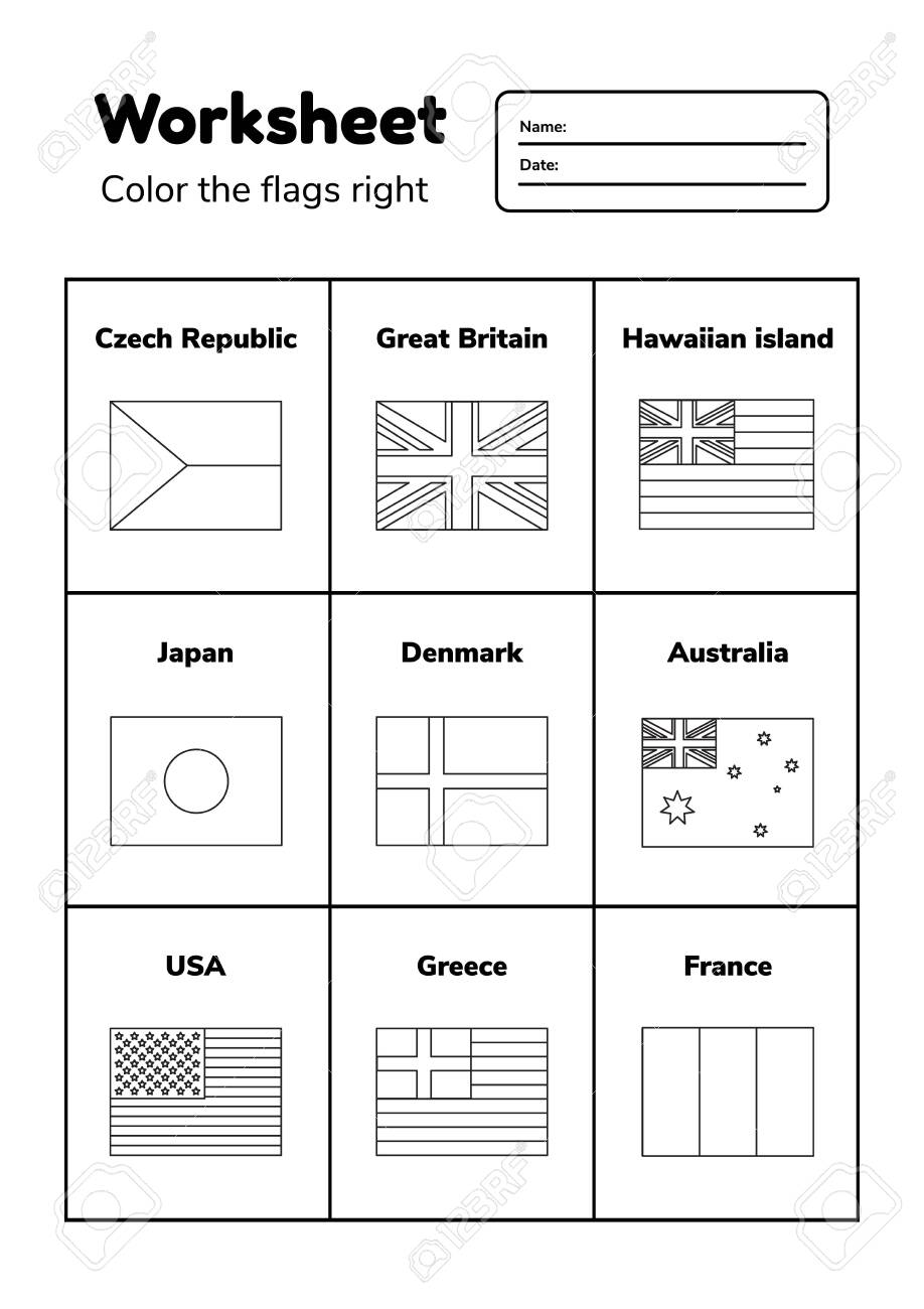 Flags Of The World Printable Coloring Pages Dialogueeurope Colour ... | 1300x918