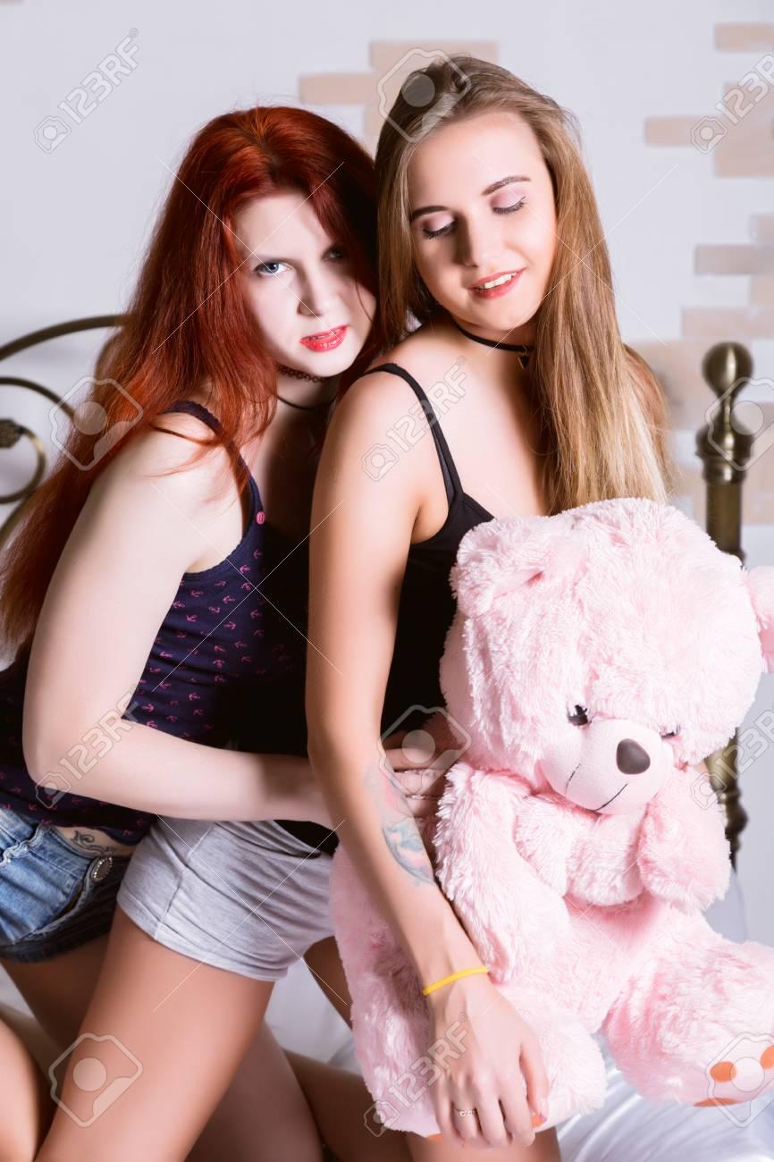 Lesbian In Bedroom