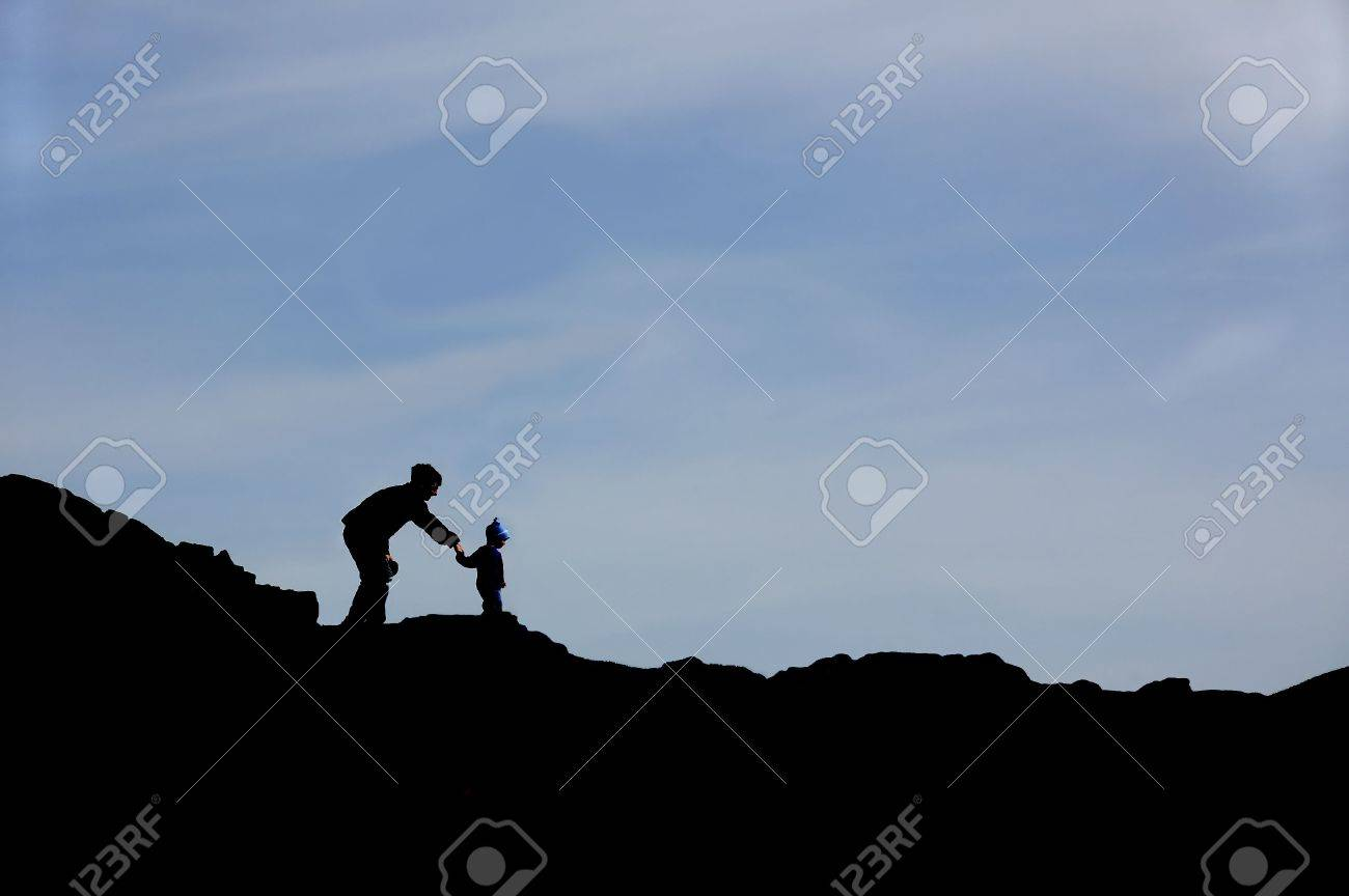 Parent and Child silhouette Stock Photo - 2025148