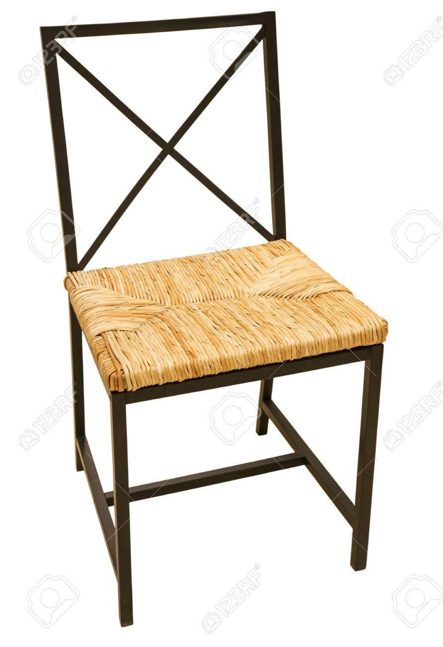 Genial Metall Stuhl Ideen Von Metall-stuhl Mit Weichen Sitz Gewebt Isoliert Auf