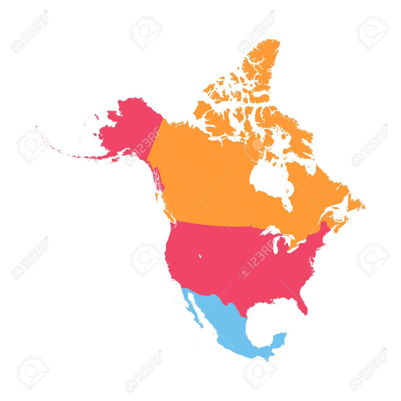 Free North America Map.North America Map Royalty Free Cliparts Vectors And Stock