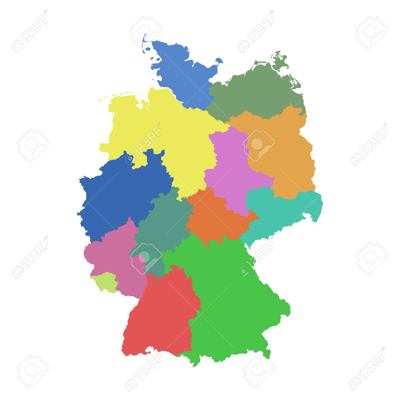Germany Map States.Germany Map With Federal States Royalty Free Cliparts Vectors And
