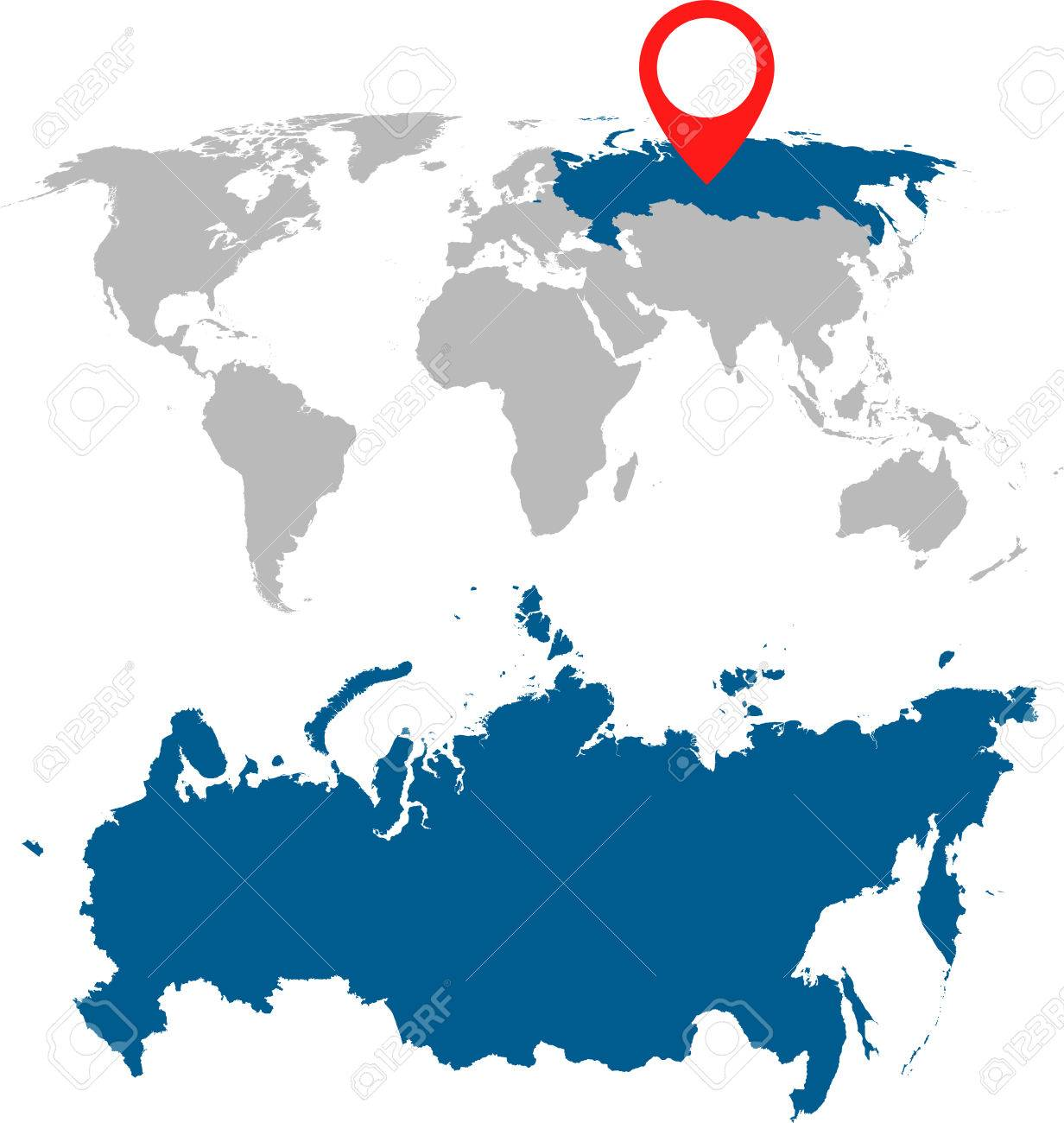 Detailed Map Of Russia Russian Federation And World Map