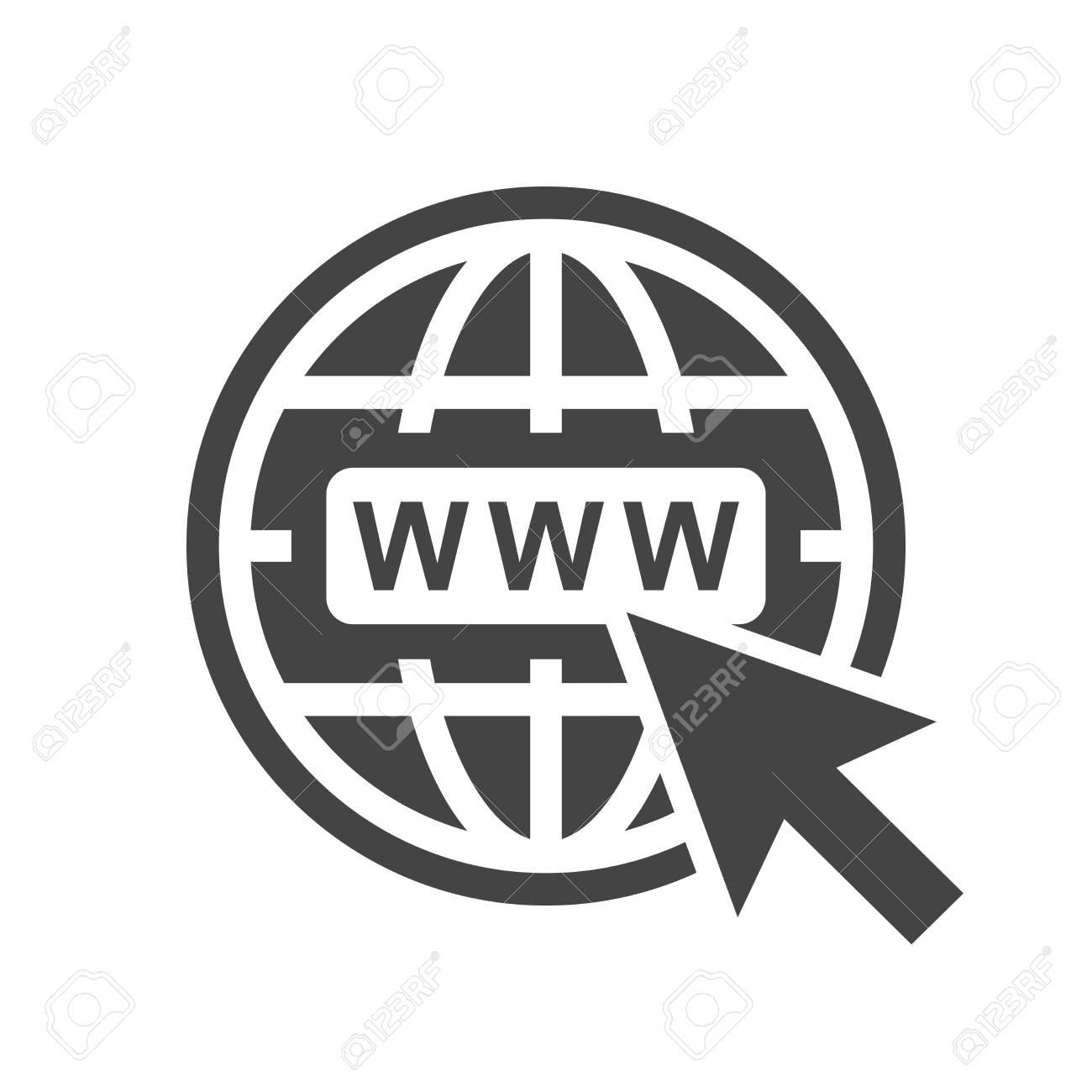 ddb6ff5278529 Foto de archivo - Ir al icono de la web. Ilustración de vector plano de  Internet para el sitio web sobre fondo blanco.