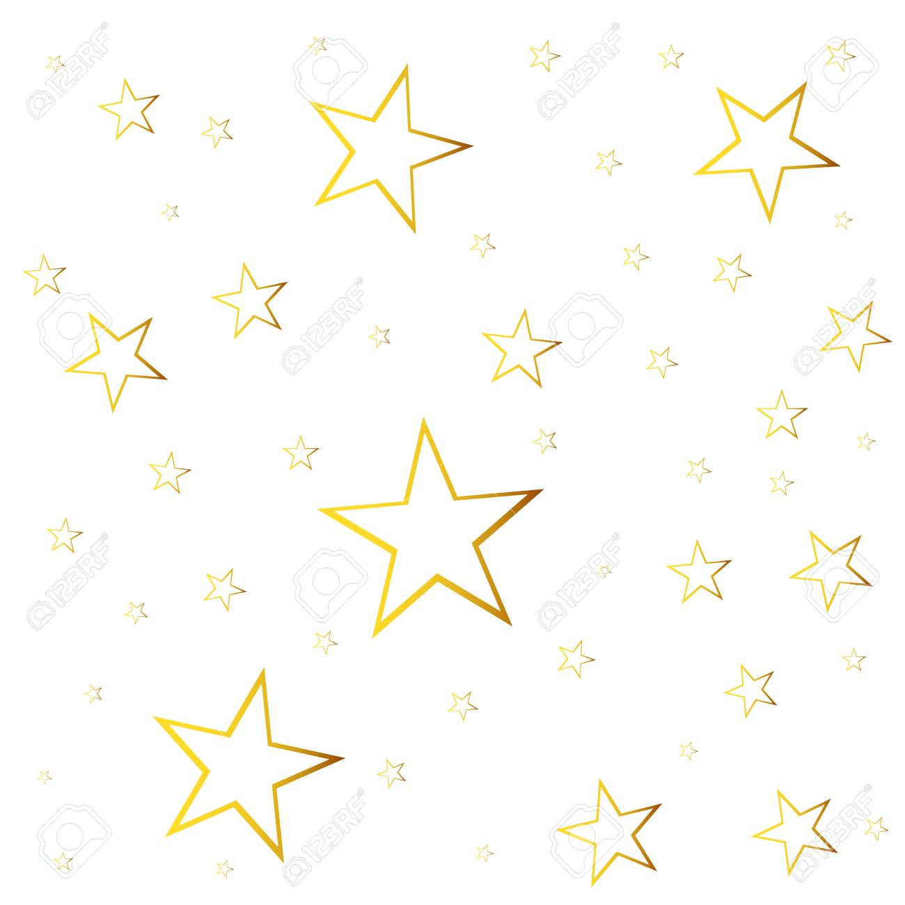 Abstrakt Sternschnuppe Vektor Illustration Mit Goldenen