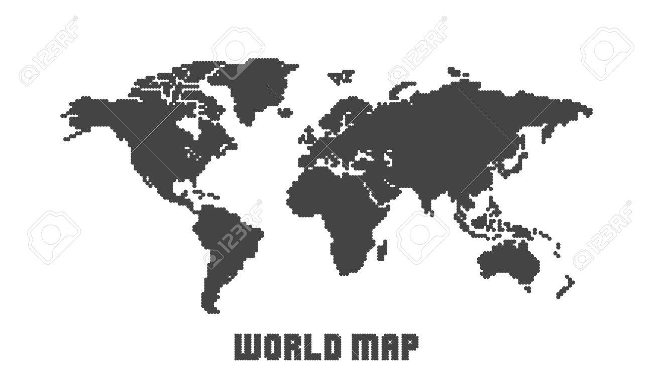 Dotted blank black world map isolated on white background world dotted blank black world map isolated on white background world map vector template for website gumiabroncs Image collections