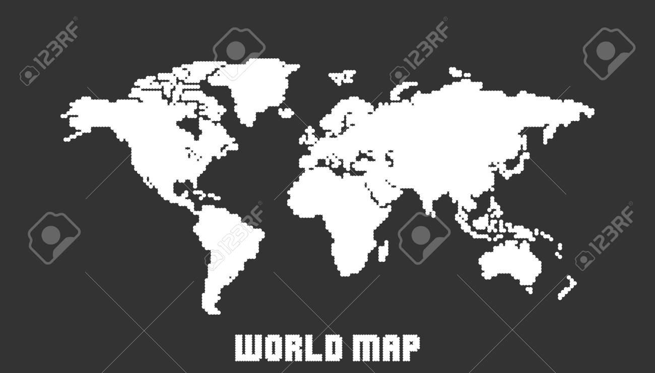 Dotted blank white world map isolated on black background world dotted blank white world map isolated on black background world map vector template for website gumiabroncs Gallery