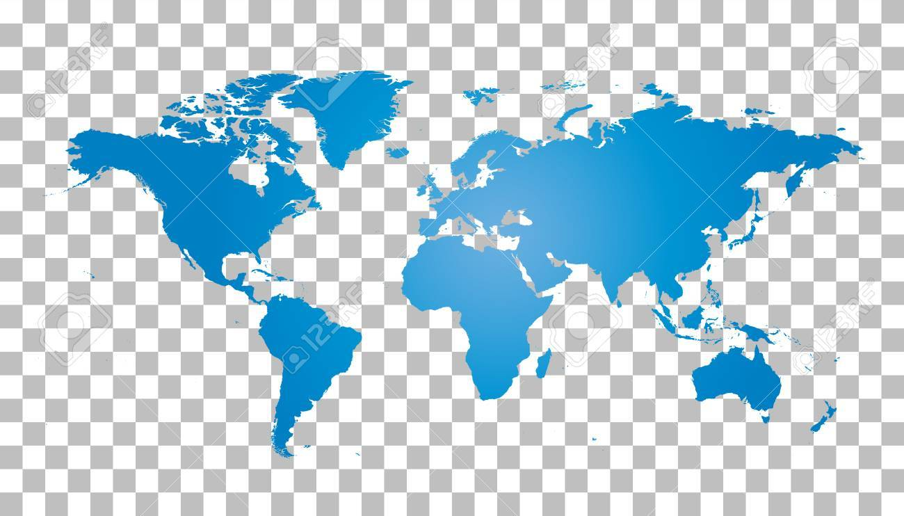 Blank blue world map on isolated background world map vector blank blue world map on isolated background world map vector template for website infographics gumiabroncs Images