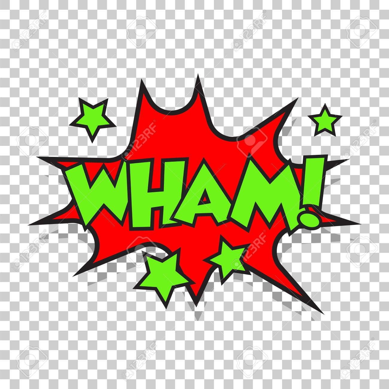 wham comic sound effects sound bubble speech with word and comic