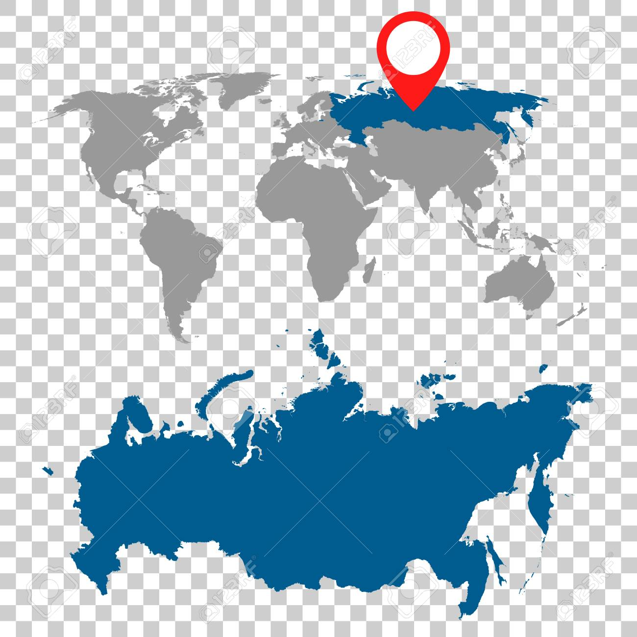Detailed map of russia russian federation and world map navigation detailed map of russia russian federation and world map navigation set flat vector illustration gumiabroncs Choice Image