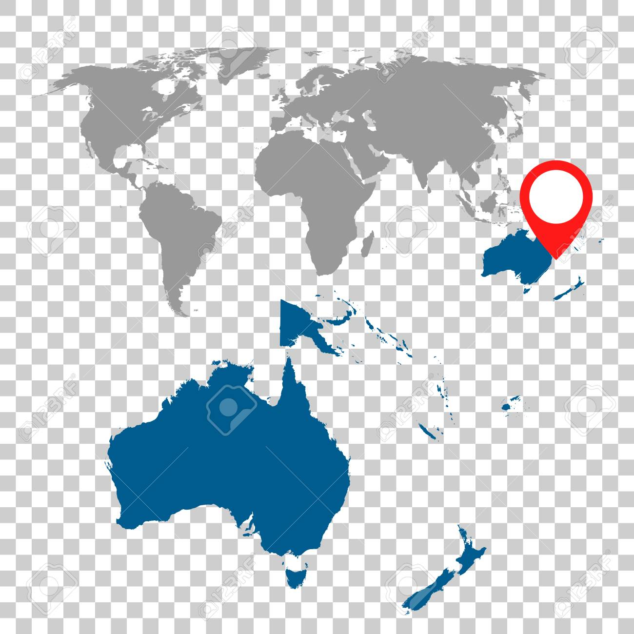 Detailed map of australia oceania and world map navigation set detailed map of australia oceania and world map navigation set flat vector illustration gumiabroncs Choice Image