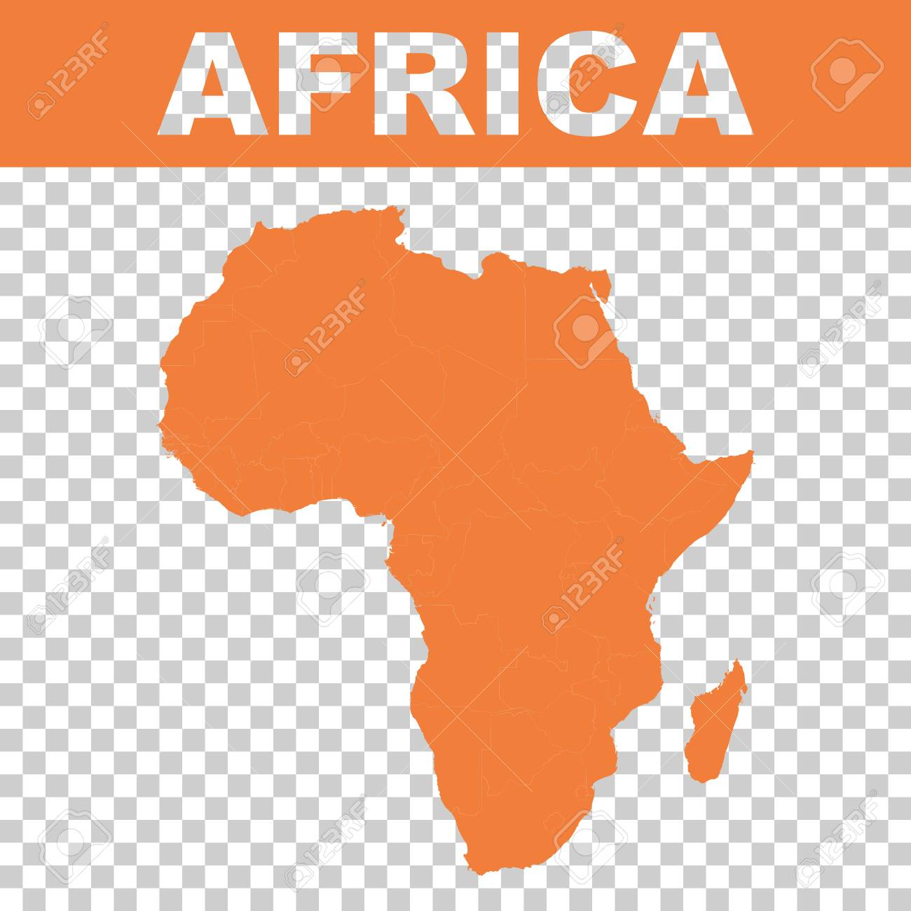 map of africa vector flat royalty free cliparts vectors and stock rh 123rf com africa vector population africa vector free download