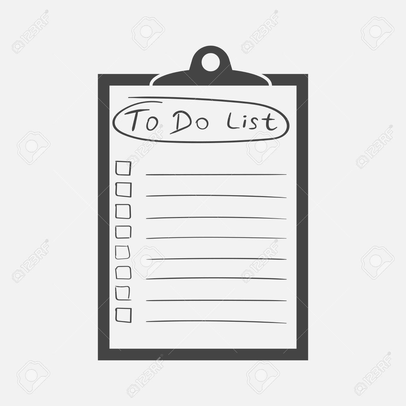 to do list icon with hand drawn text checklist task list vector