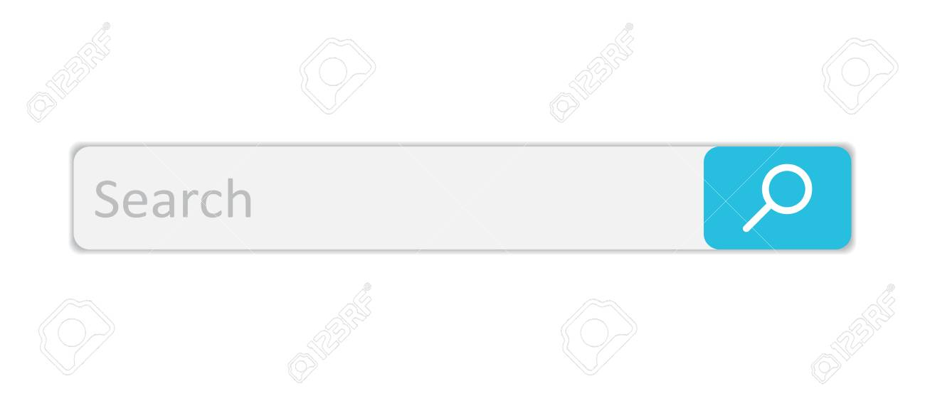 検索バーのフィールド検索ボタンでベクトル インタ フェース要素白い