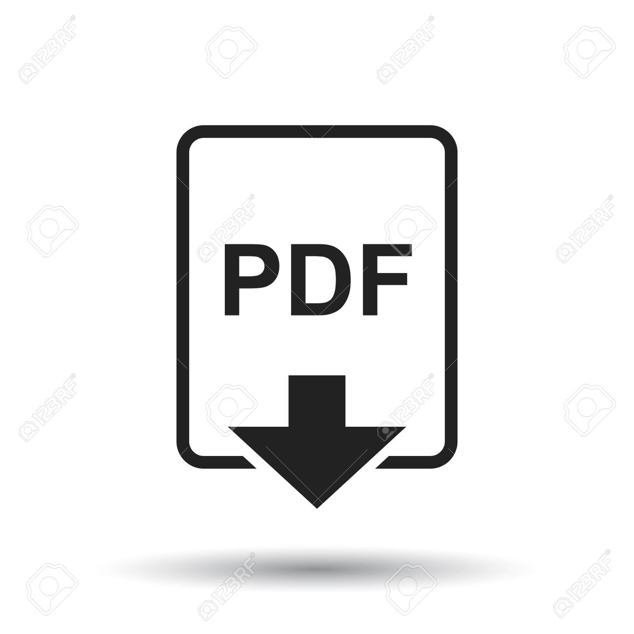 Download pdf button. Downloading document concept. File with pdf.