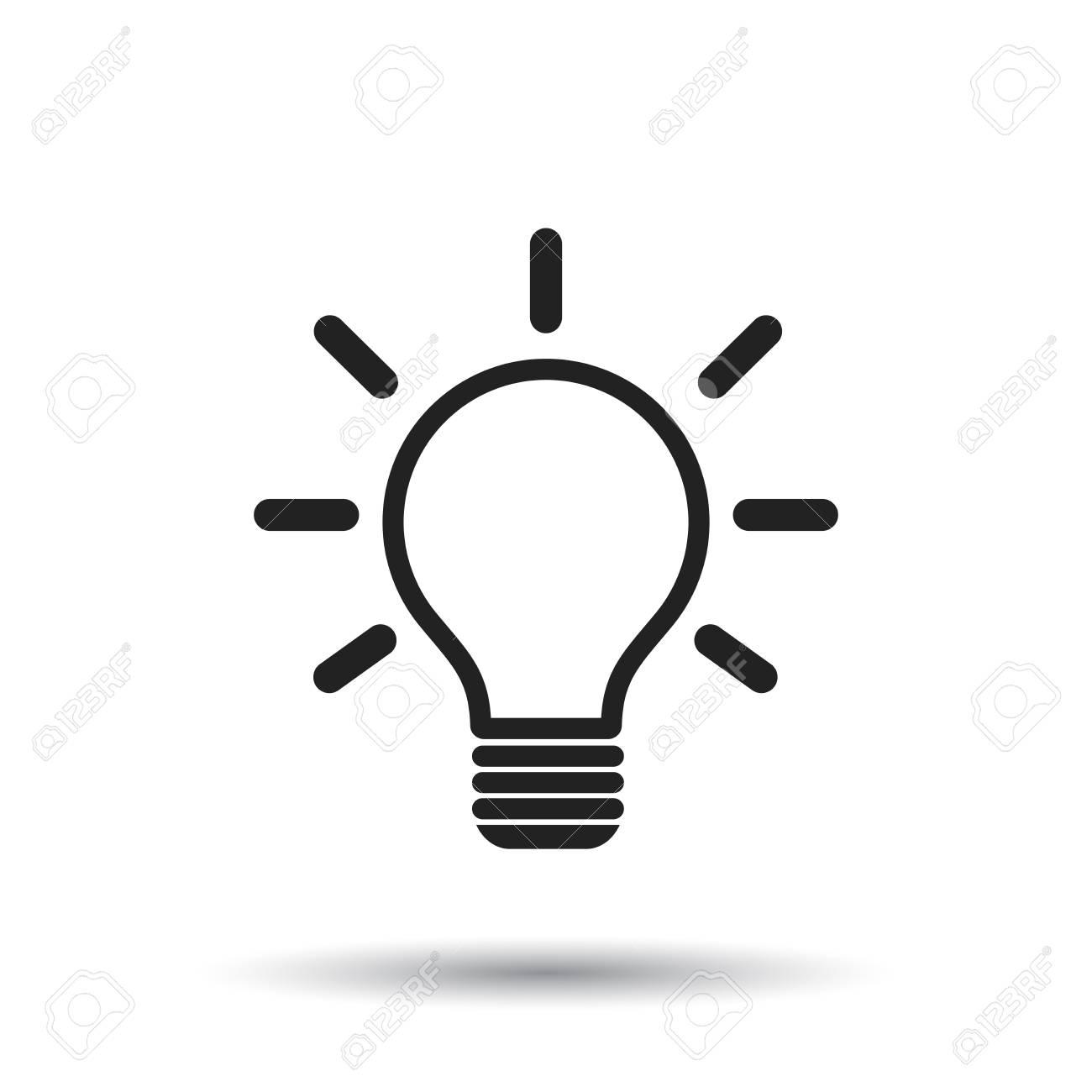 Icone Idée Icône D'ampoule Sur Fond Blanc. Idée Illustration Vectorielle